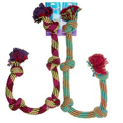 Dog Knotted Rope Toy Large L104cm 2 Asstd Colours