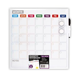 Whiteboard Magnetic Frameless Planner 355x355mm w Marker