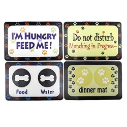 Mat Feeding Pet 4 Asstd Designs 40x59cm