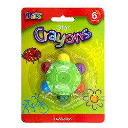 Crayon Star Shape 6 Cols Mixed