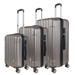 Luggage Set 3 ABS - Expandable 4 Wheels 48 / 58 / 68cm Bronze