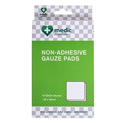 Gauze Pads Non Adhesive 2PC 4 Ply Pk10