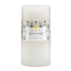 Candle Pillar Round Rustic White 44 Hour 7x13.7cm