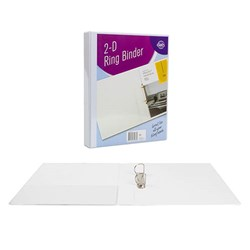 Binder Insert 2-D Ring A4 PVC White