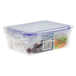 Storage Container Clip Lid 2 Compartments 17.5x13x6.5cm