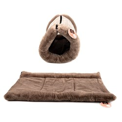 Cat Bed or Mat 2 in 1 Style Plush 32x23cm