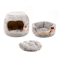 Cat House or Bed 2 in 1 Style Plush 43x35cm