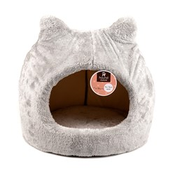 Cat House w Ears Plush 43x42cm
