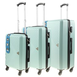 Luggage Set 3 ABS 4 Wheel 68cm 58cm 48cm Matt Light Green