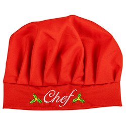 Hat Chef Xmas Linen 290x220mm