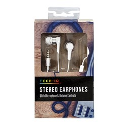 Earphones Stereo with Microphone & Volume Control