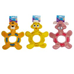 Dog Toy Animal Character 34x26cm 3 Asstd