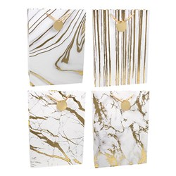 Gift Bag 210gsm Gold Marble Textured Foil w Jhook XLarge