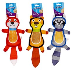 Dog Toy Animal Character 3 Asstd 40x16cm
