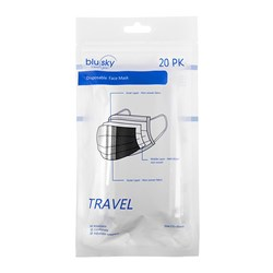 Black Travel Mask 20pk