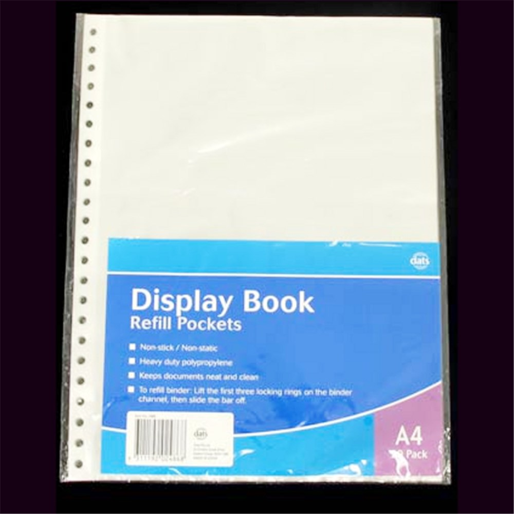 2486 Display Book Refill A4 20pk Dats