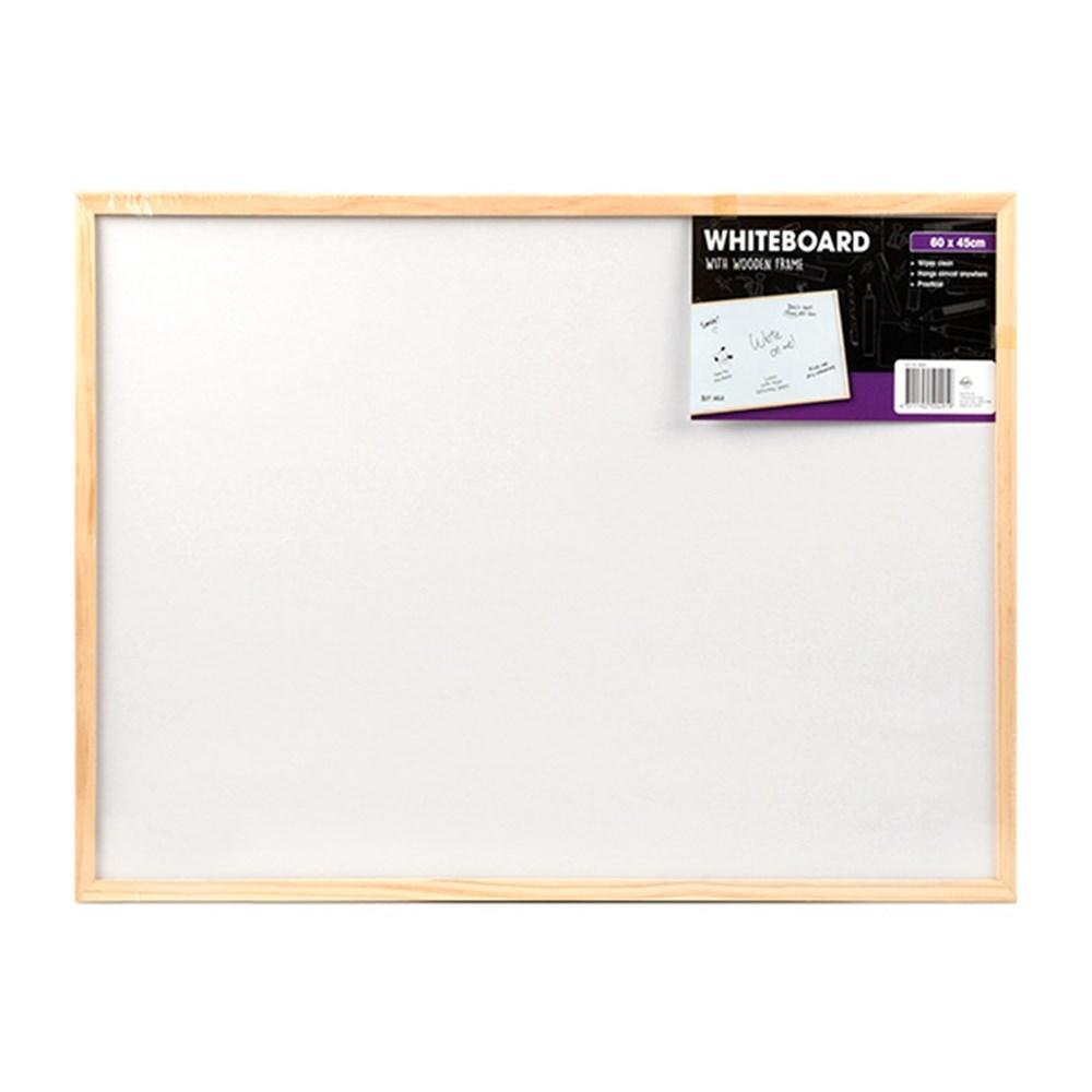 50491 - Whiteboard 45x60cm Wooden Frame - Dats